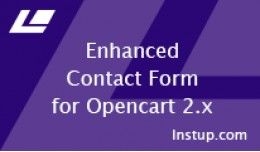 Enhanced Contact Form for Opencart 2.x