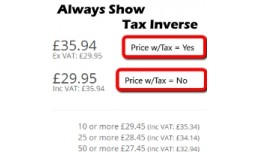 Always Show Inverse Tax Value (15x/2x/3.0) - vQmod