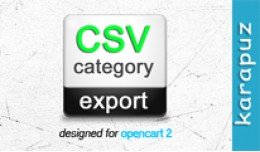 CSV Category Export (for Opencart 2)