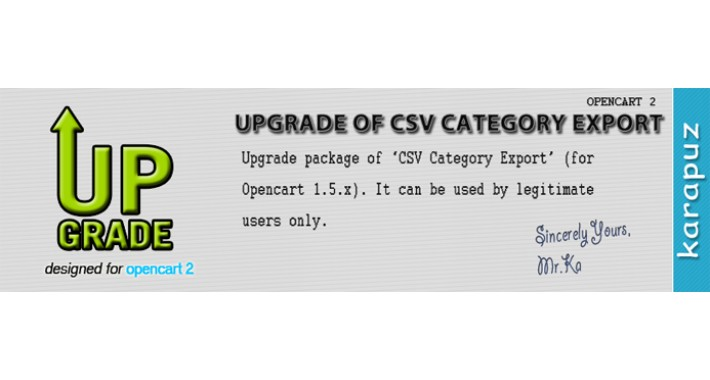 CSV Category Export (Upgrade to Opencart 2)