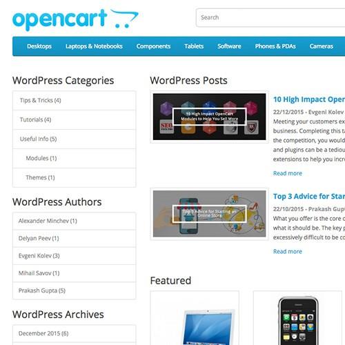 Opencart Ocwp Integrate Wordpress In Opencart