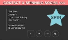 Contact & Spinning Social in Footer OC2