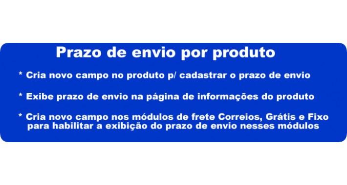 Prazo de envio por produto (Deadline for sending product)