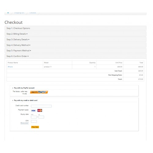 OpenCart - Paypal Pro Hosted/Integral Solution + iFrame (15x/2x)