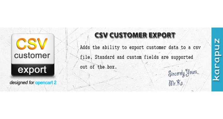 CSV Customer Export (for Opencart 2)
