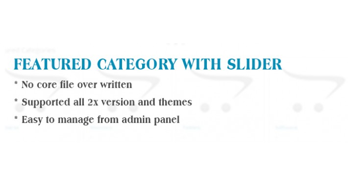Featured Categories with Touch slider