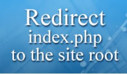 Redirect index.php to the site root