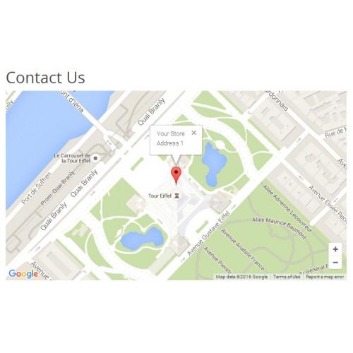 OpenCart - Google Map from Geocode