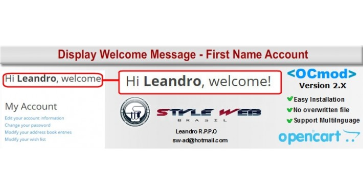 Display Welcome Message - First Name Account
