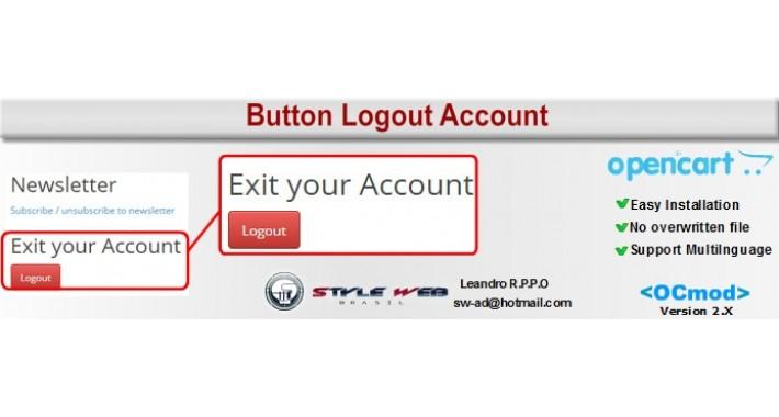 Button Logout Account