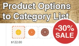 Product Options to Category List - SALE