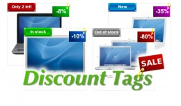 Special Discount Tags with stock status (FREE SU..