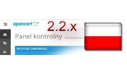 Język polski dla OpenCart 2.2.0.0 (Polish langu..