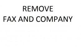 Remove Fax and Company
