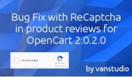reCaptcha in reviews oc2.0.2.0