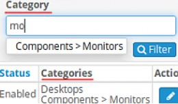 ADMIN: Add Category Filter and Categories Column..