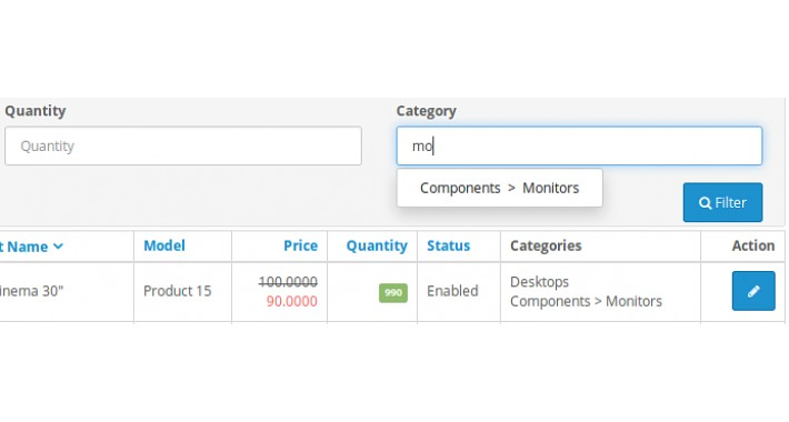 ADMIN: Add Category Filter and Categories Column in Product List