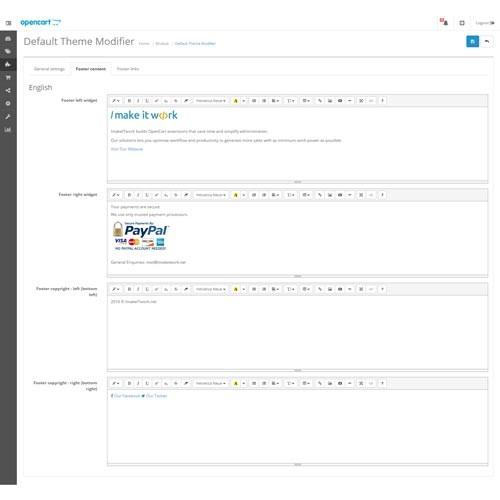 Opencart default theme modifier maxwellsz
