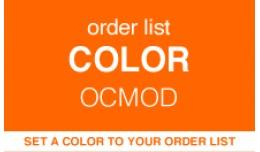 Order List Color - Label (OCMOD)