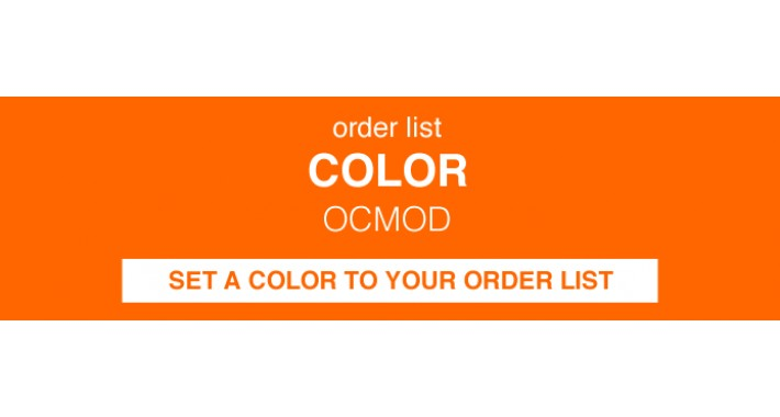 Order List Color - Label (OCMOD)