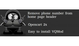 Remove phone number from home page header