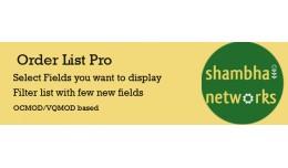 Order List Pro