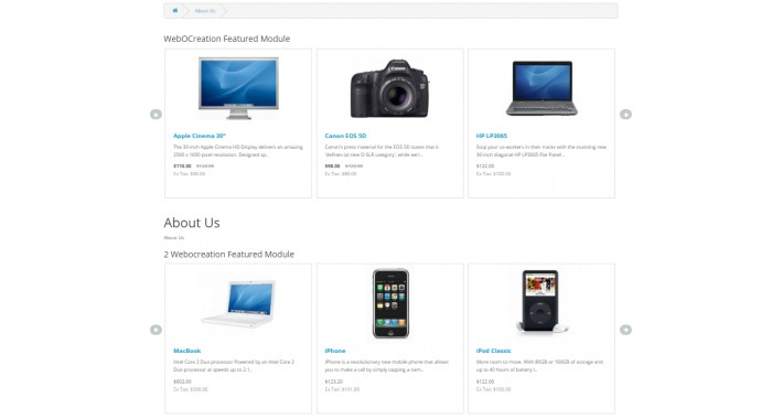 Advance Featured Module with product slider for free