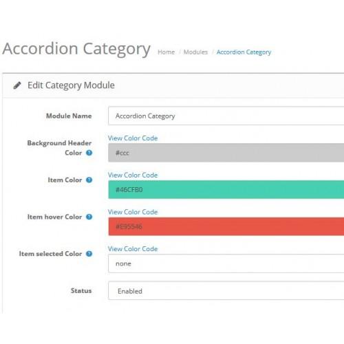 OpenCart - Accordion Category Menu