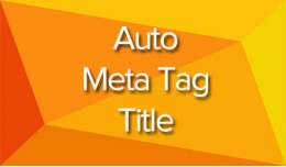 Auto Meta Tag Title Multilanguage (Vqmod & O..