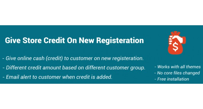 Get Store credit on new account registration