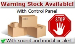 Warning Stock Available! - Modal - Alert - Sound