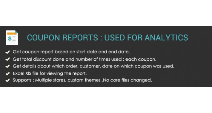 Coupon Report : Details in Excel Sheet