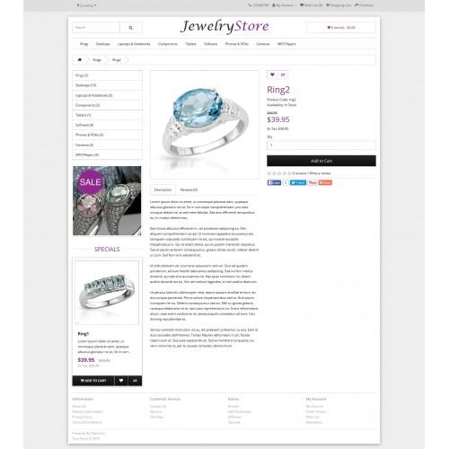 OpenCart - Jewelry Theme - Opencart Theme