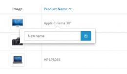 Editable Product List