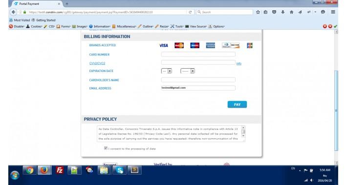 Triveneto Consortium Payment