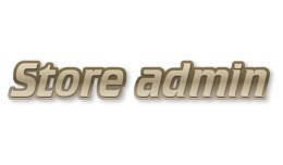 Store admin