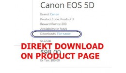 Direkt download on product page