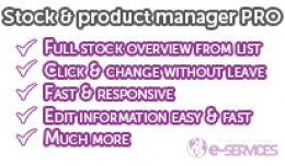 Quick product edit + Stock manager