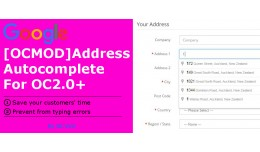 [OCMOD]Google Address Autocomplete OC2.0+