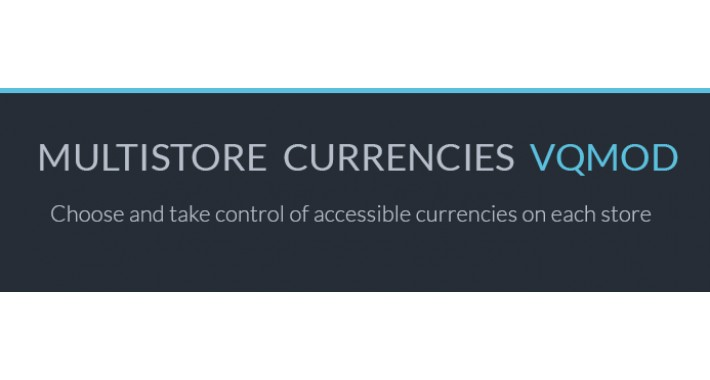 Multistore currencies VQMOD