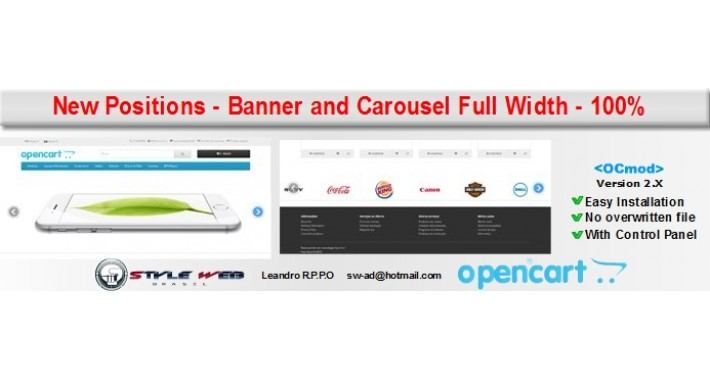 New Positions - Banner Slideshow and Carousel Full Width - 100%