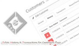 Add Delete Buttons To Customer Transaction and H..
