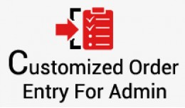 Customized One Page Order Entry For Admin