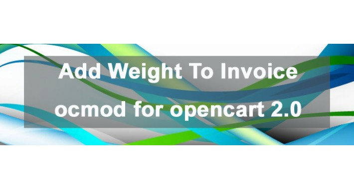 Add Weight To Invoice