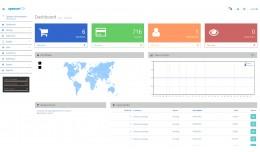 custom admin dashboard layout and new login