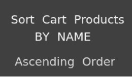 Sort Cart Products By Name