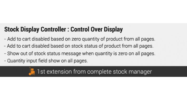 Stock Display Controller : 4 Features Pack