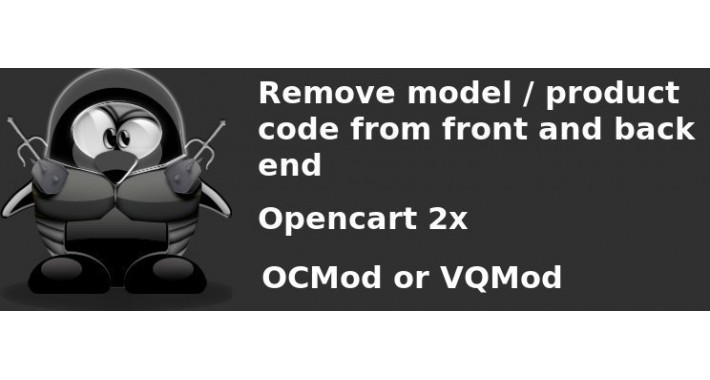 "Remove ""model"" from front and back end"
