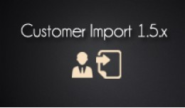 Import customers 1.5.x to opencart quickly
