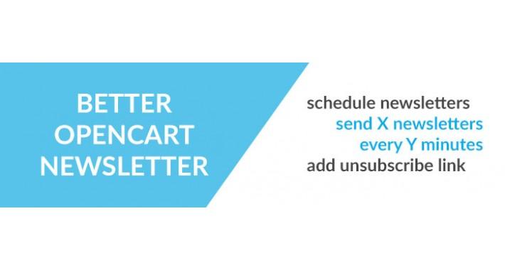 Better OpenCart Newsletter module